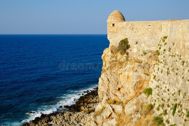 Festung Fortezza in der Stadt von Rethymno lizenzfreie stockbilder