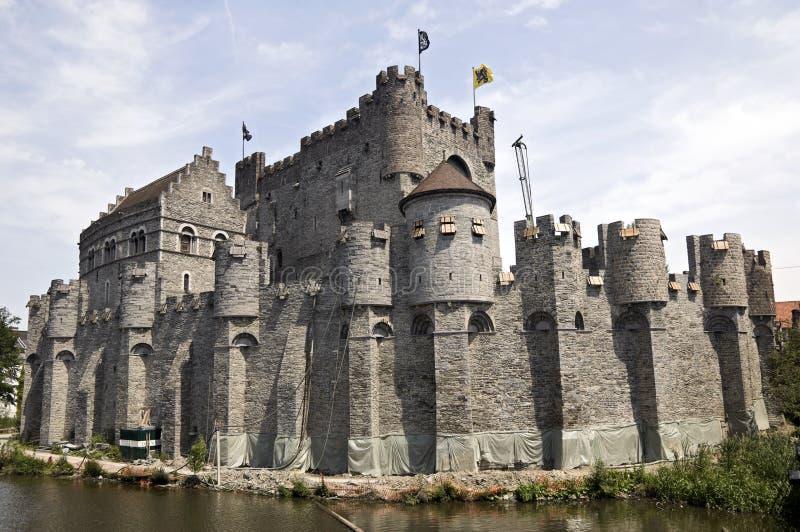 Festung, Gent lizenzfreie stockbilder