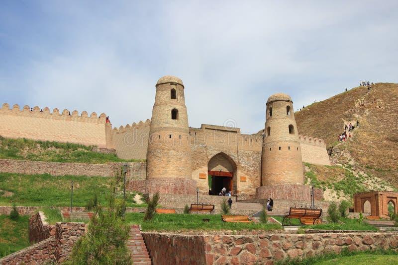 Festung Hisor (Hissar) in Hisor-Stadt, Tadschikistan lizenzfreie stockbilder