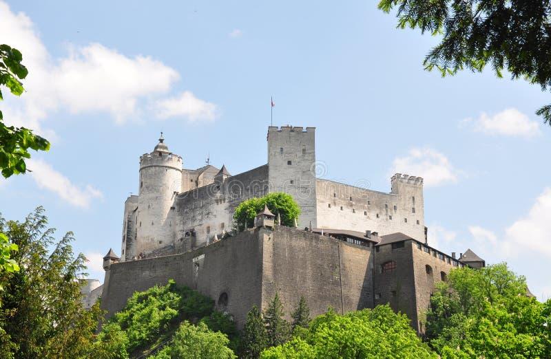 Festung Hohensalzburg em Salzburg fotografia de stock royalty free