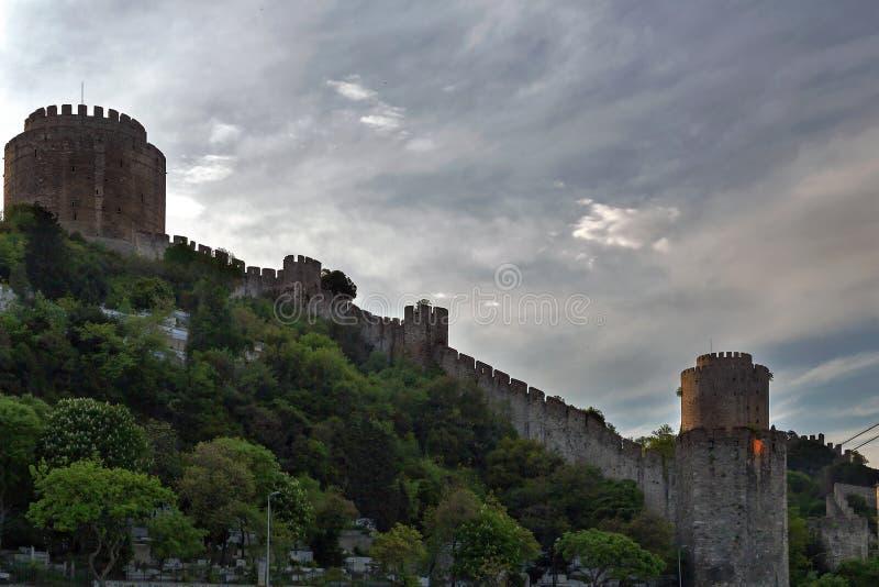 Festung in Istanbul, die Türkei lizenzfreie stockfotografie