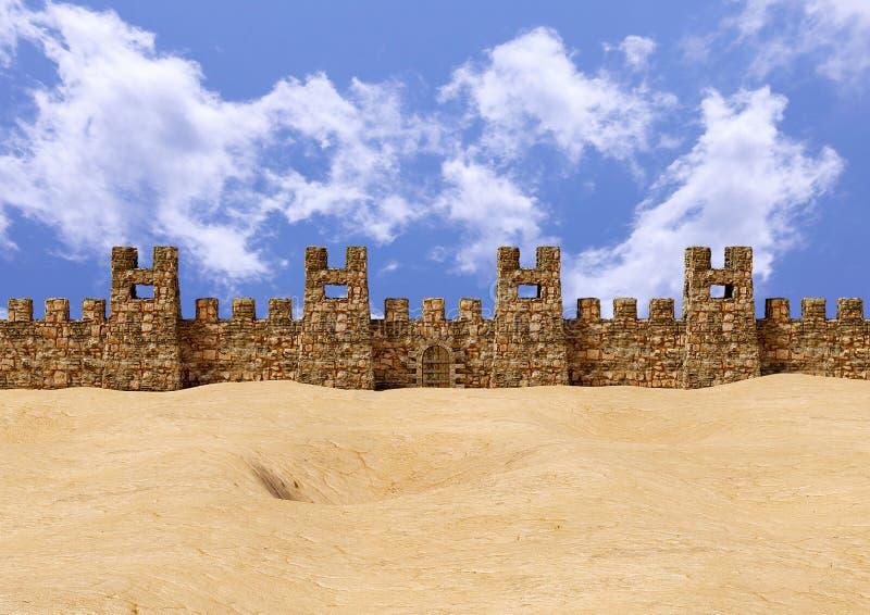 Festung Jericho mit Panoramablick Der Ort war der Schauplatz einer großen Schlacht der hebräischen Menschen, die in der Bibel erz lizenzfreie abbildung