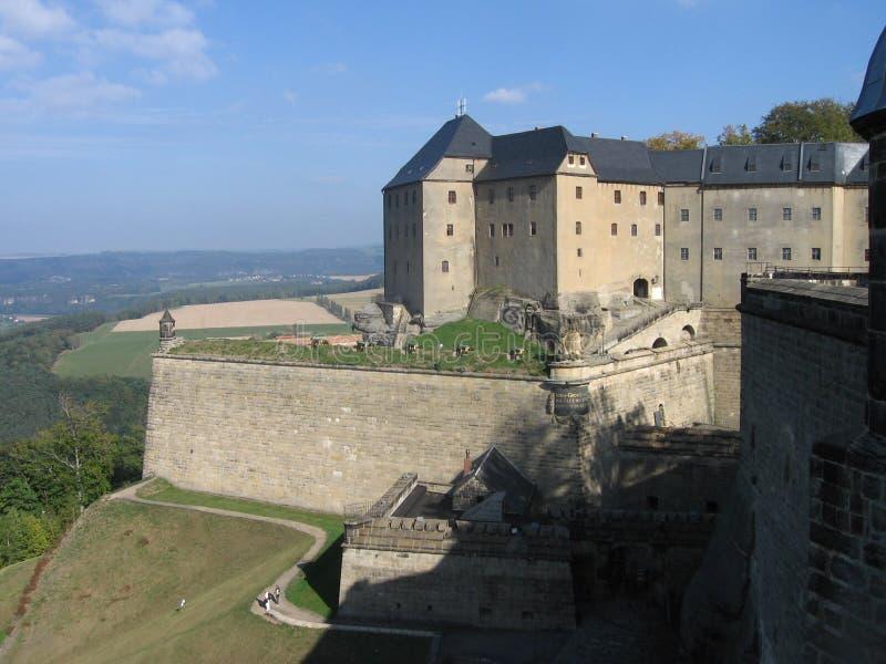 Festung Koenigstein lizenzfreie stockbilder