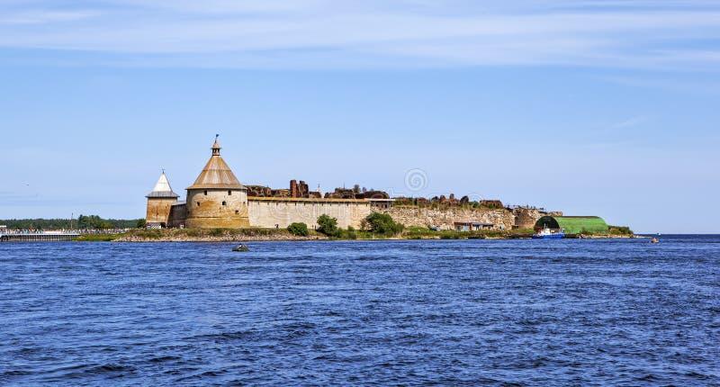 Festung Oreshek Ansicht vom Wasser Shlisselburg Russland stockfoto