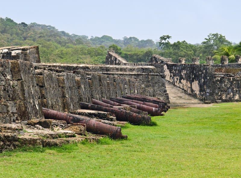 Festung in Panama lizenzfreie stockbilder
