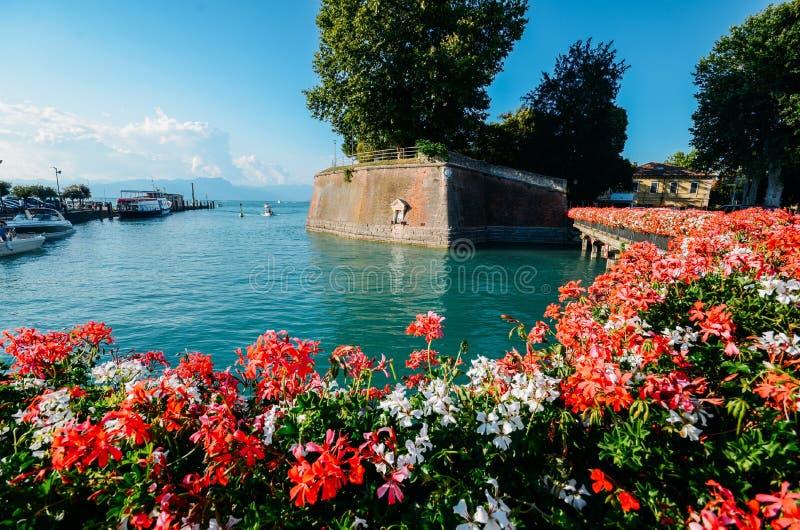 Festung Peschiera Del Garda, See Garda, Italien stockbild