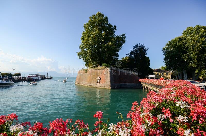 Festung Peschiera Del Garda, See Garda, Italien lizenzfreie stockfotos