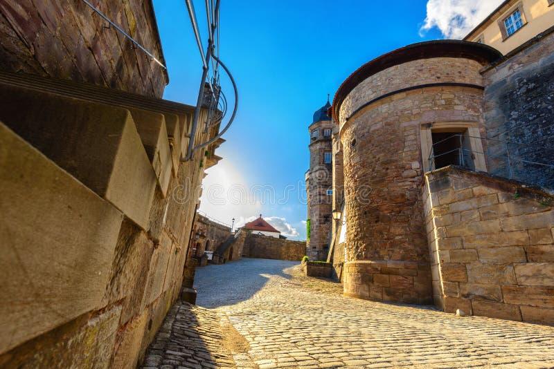 Festung Rosenberg - Kronach stockbilder