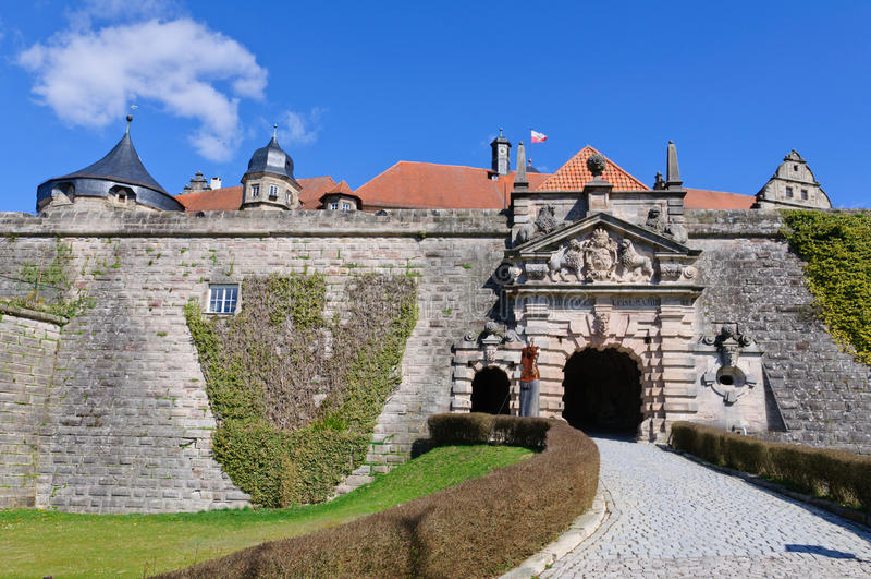 Festung Rosenberg in Kronach, Deutschland stockbilder