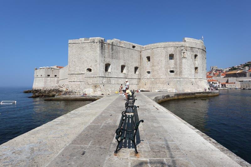 Festung von Dubrovnik, Kroatien stockfotografie