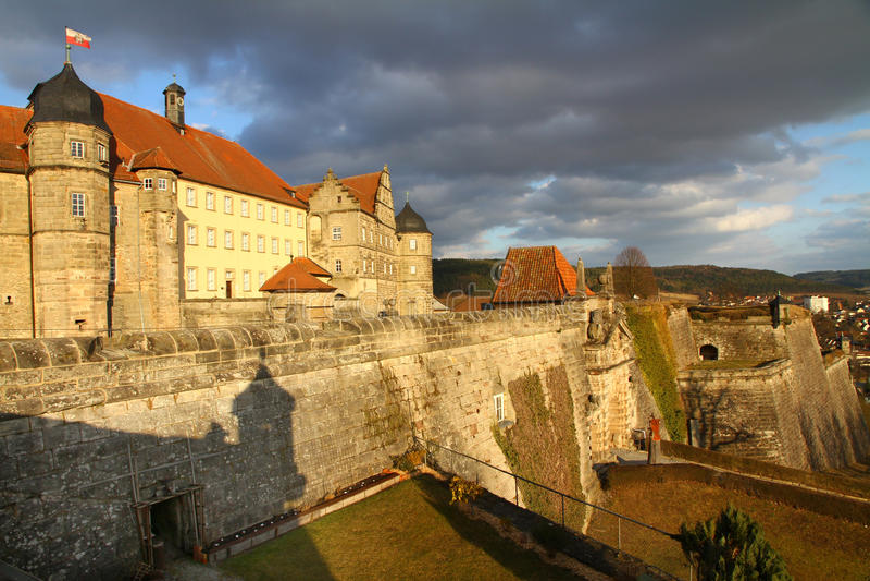 Festung von Kammgarn-stoff stockfotografie