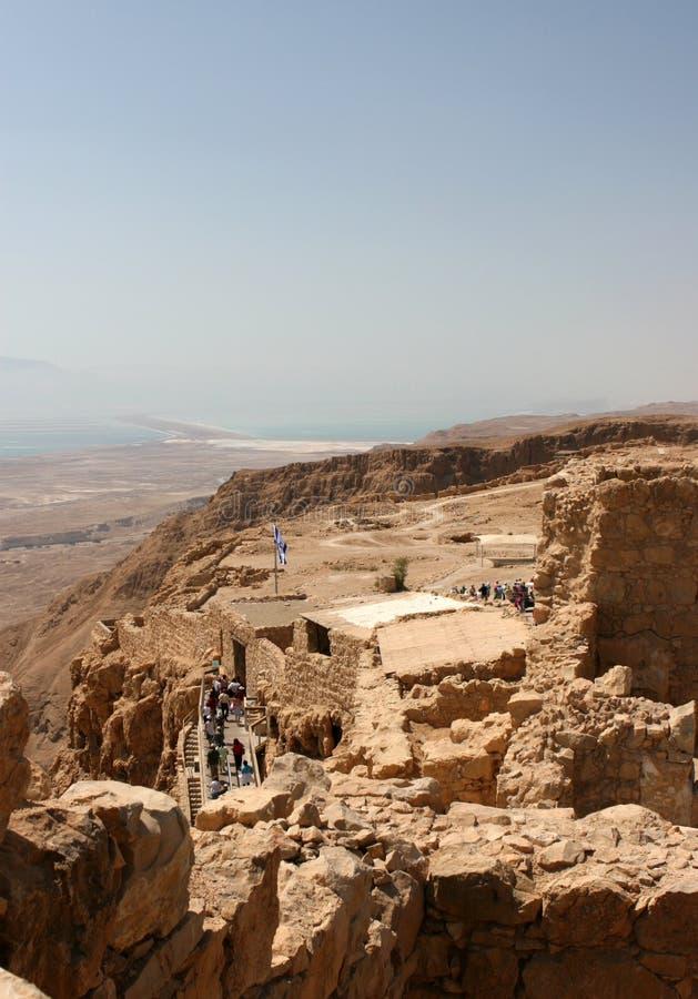 Festung von Masada, Israel stockfotos
