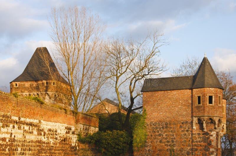 Festung Zons, Deutschland stockfotografie