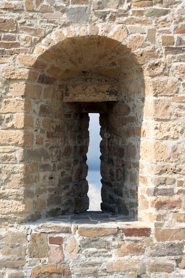 Festungs-Wand mit Embrasure lizenzfreies stockfoto