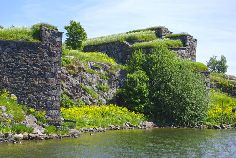 Festungswand lizenzfreie stockfotografie