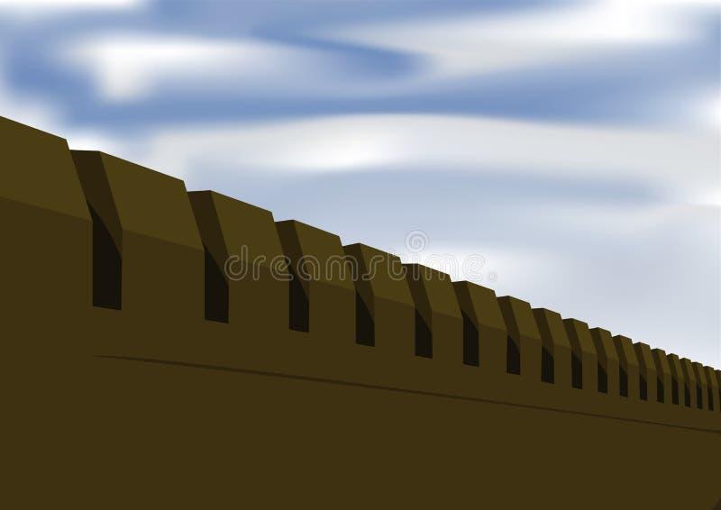 Festungswand lizenzfreie abbildung