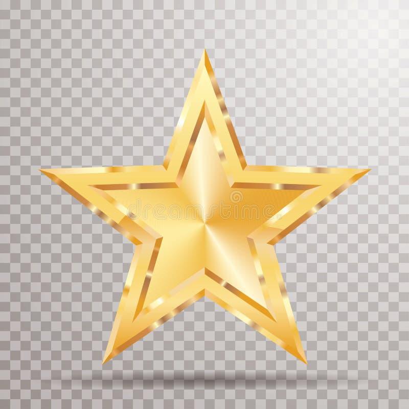 Fet guld- stjärna vektor illustrationer