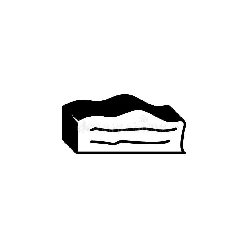 Fet illustration Beståndsdel av köttproduktsymbolen för mobila begrepps- och rengöringsdukapps Den isolerade feta symbolen kan an stock illustrationer