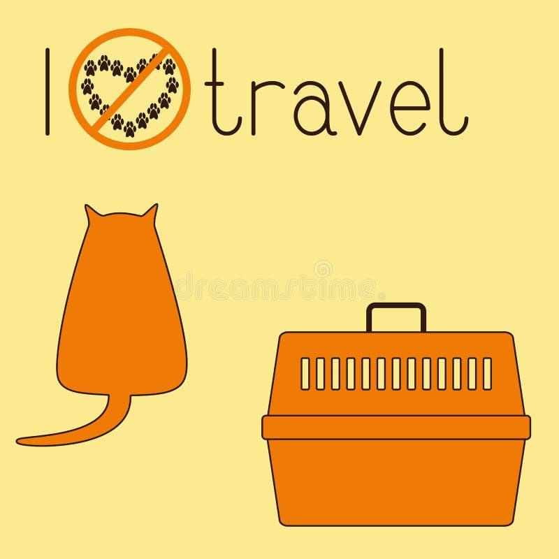 Fet katt- och husdjurbärare royaltyfri illustrationer