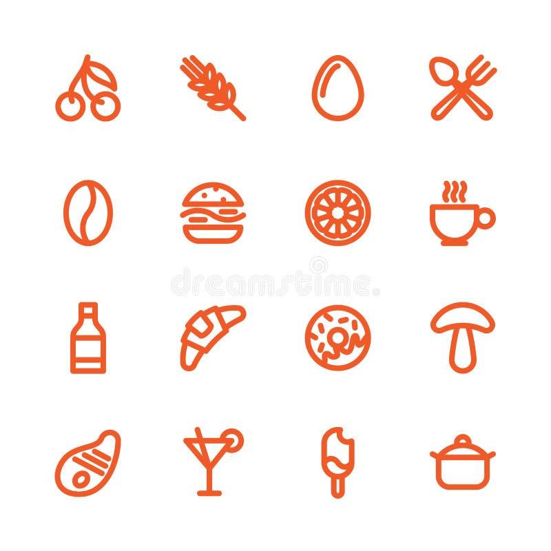 Fet linje symboler stock illustrationer