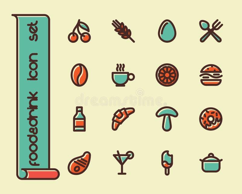 Fet linje symboler vektor illustrationer