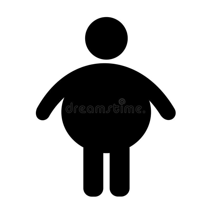 Fet och sjukligt fet person stock illustrationer