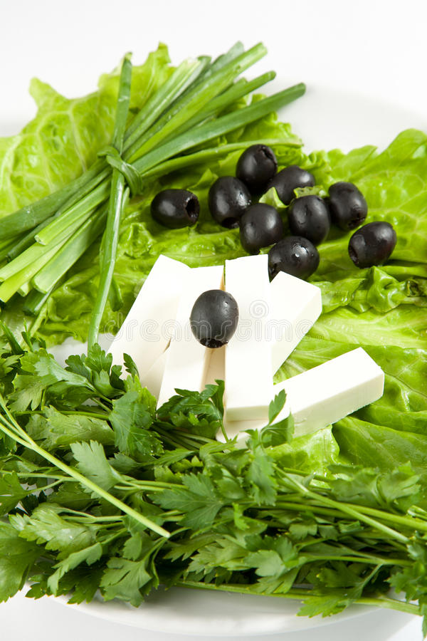 Download Feta Cheese With Black Olives Stock Image - Image: 18341161