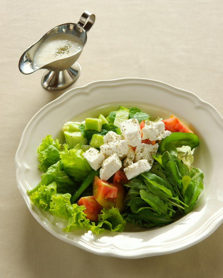 Feta Cheese Salad, Lebanese Food. Stock Images