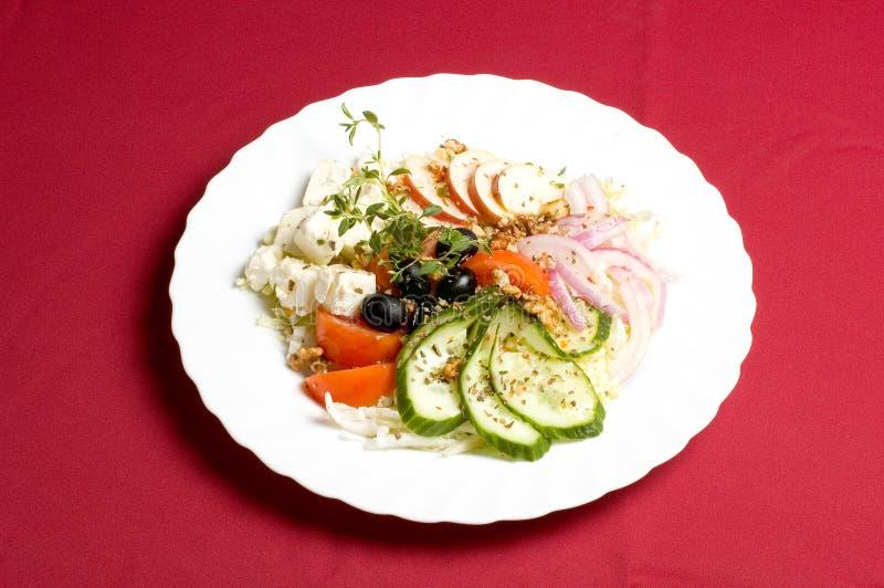 Feta-kaas salade royalty-vrije stock foto's