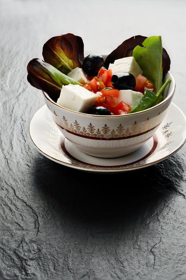 Feta-Salat lizenzfreies stockfoto