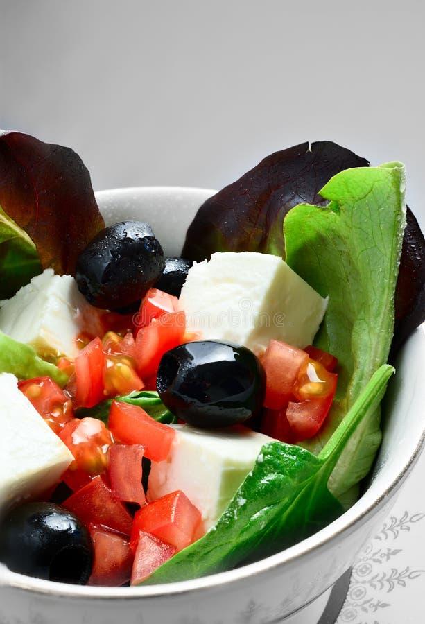 Feta-Salat-Makro lizenzfreie stockfotografie