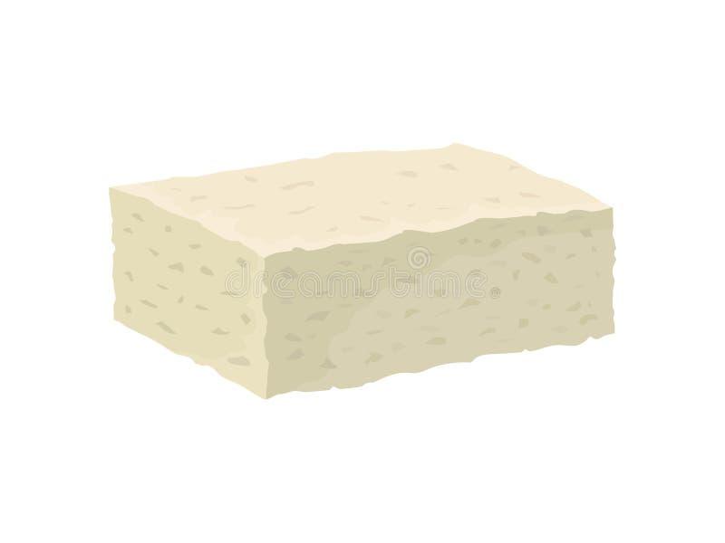 Feta ser na białym tle również zwrócić corel ilustracji wektora ilustracji
