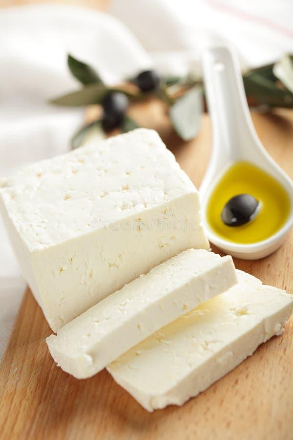Fetakäse mit Oliven stockbilder