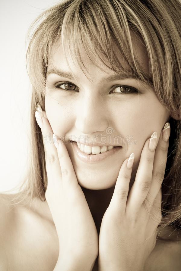 Download Fetching Smile. Beautiful Woman Close Up. Stock Photo - Image: 10060728