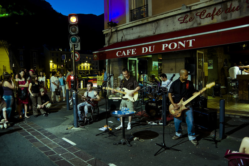 Fete de la Musique Grenoble lizenzfreie stockfotos