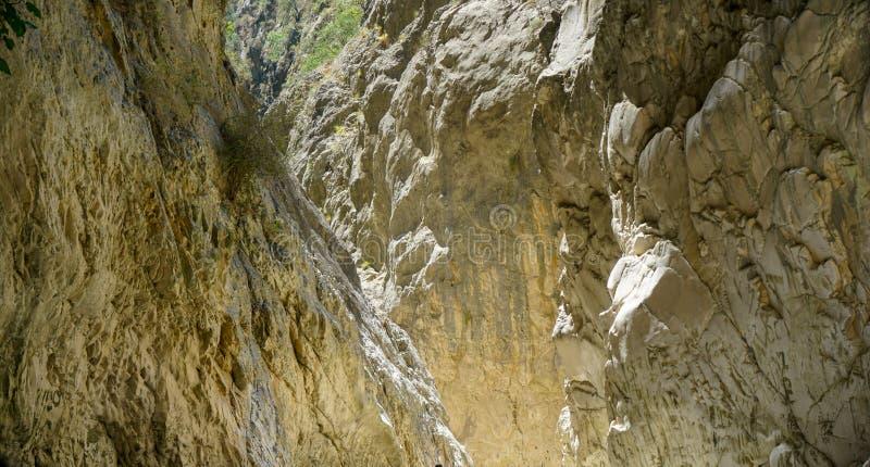 Fethiye escondido da garganta da cidade, Mugla, Turquia fotografia de stock royalty free