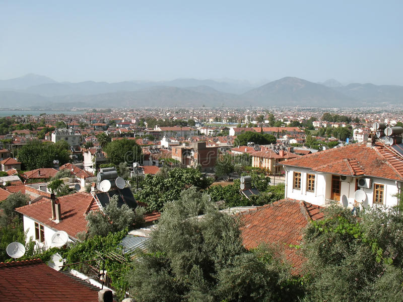 Download Fethiye town view, turkey stock photo. Image of roof - 14920700