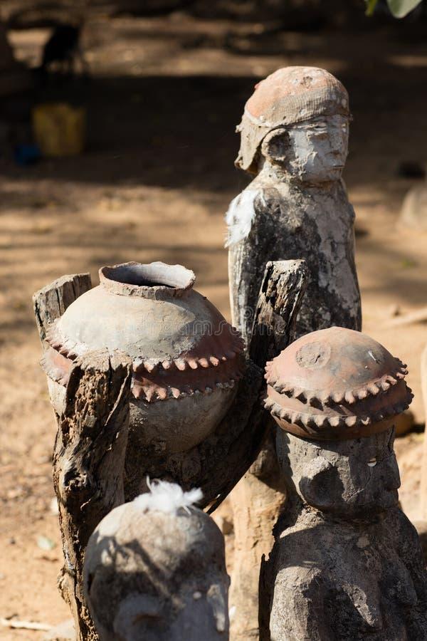 Fetisch in Lobi-Dorf, Burkina Faso lizenzfreies stockfoto