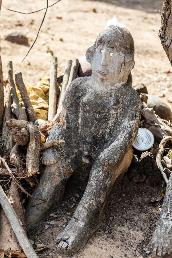 Fetisch in Lobi-Dorf, Burkina Faso stockfoto