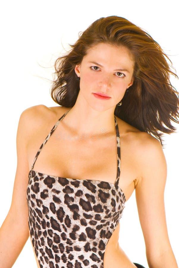 Fetischportrait der jungen Frau lizenzfreies stockbild