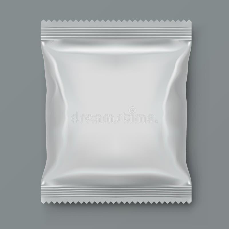 Fett emballage för mat för vitmellanrumsfolie royaltyfri illustrationer