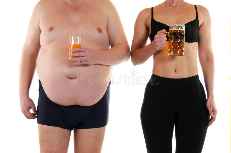 Fett und dünn lizenzfreie stockbilder