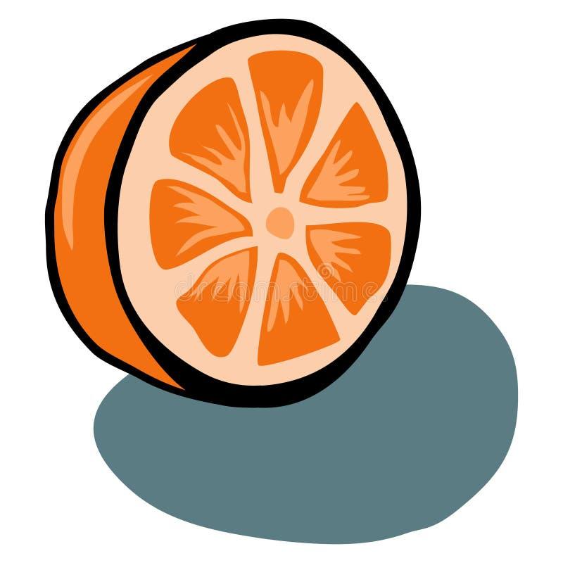 Fetta arancio illustrazione vettoriale