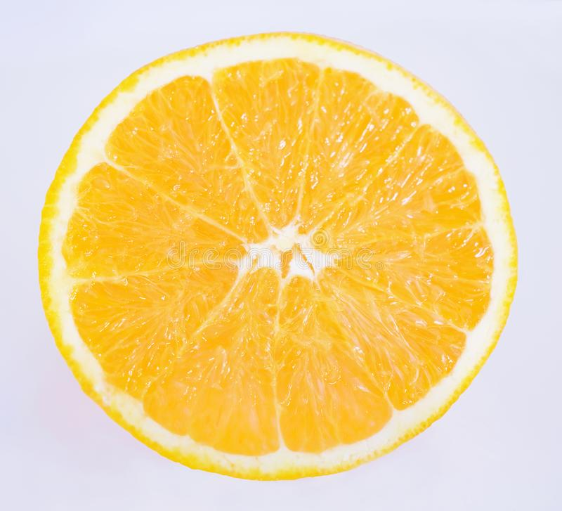 Fetta arancio fotografie stock