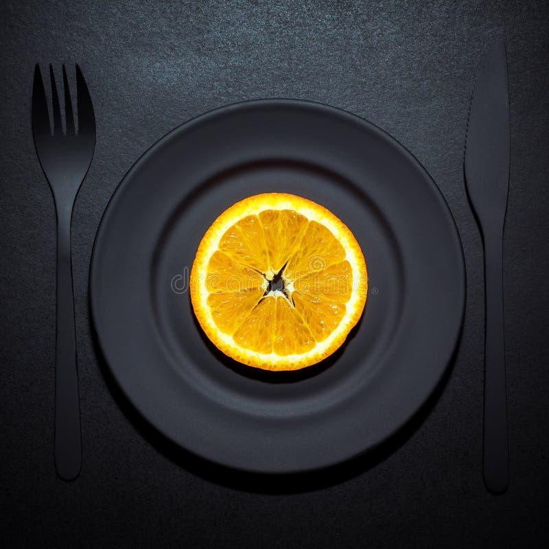 Fetta arancio immagine stock
