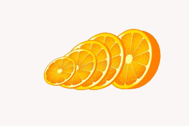 Fetta arancio dell'alimento del cerchio dell'oggetto fotografie stock