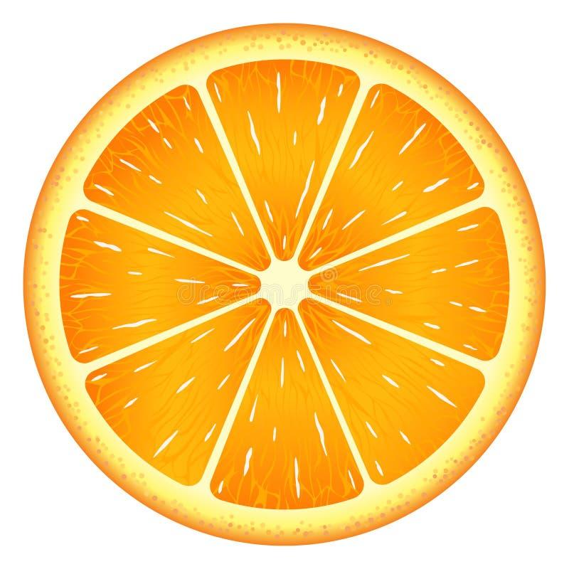 Fetta arancio, percorso di ritaglio, isolato su fondo bianco royalty illustrazione gratis