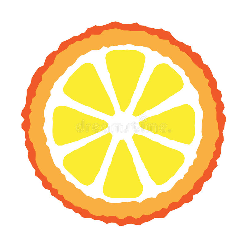Fetta arancione royalty illustrazione gratis