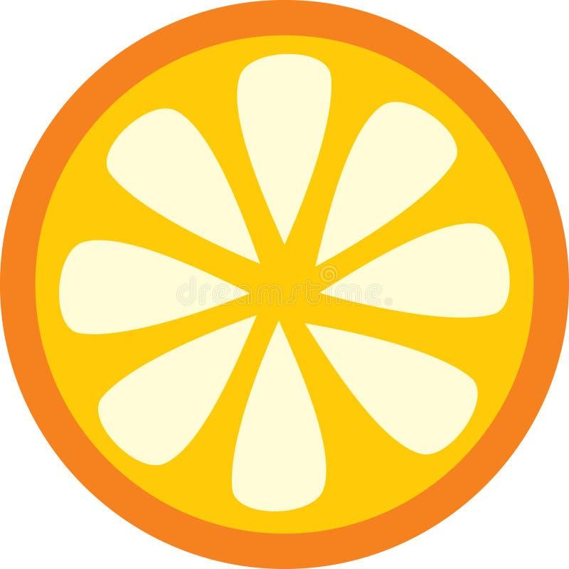 Fetta arancione illustrazione vettoriale