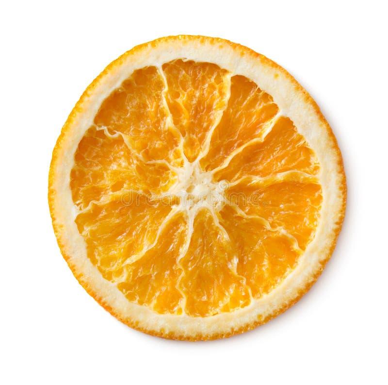 Fetta arancione secca fotografia stock